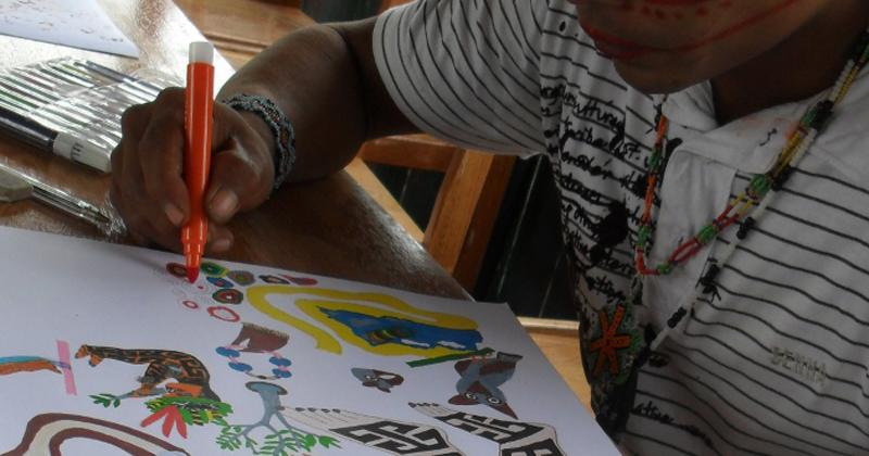 Artesãos Ou Artesaos ~ Cantos xam u00e2nicos e ayahuasca entoam mitos e tradições indígenas