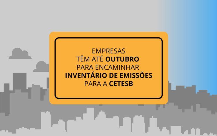 Renovacao do licenciamento ambiental Cetesb Inventario de Emissoes
